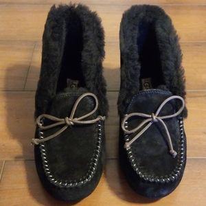 Black Ugg Alena Slippers